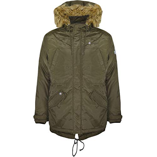 Lambretta Mens Lighweight Parka Jacket - 3XL Khaki