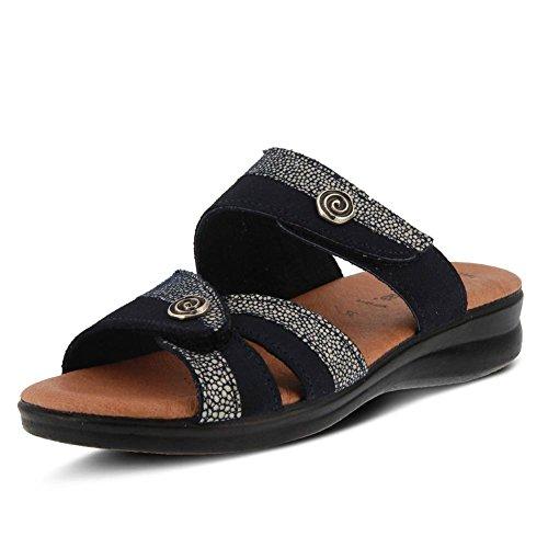 Multi Sandal by Slide Step Navy Quasida Spring Women's Flexus cRPTFg7qq