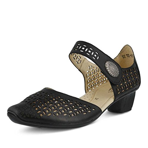 Sandal Black Toe Step Women's Leather Closed Macaw Spring CS4Aqwx