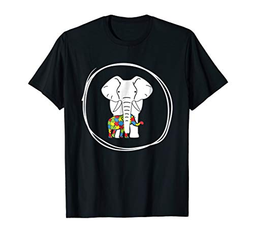 - Autism Awareness Elephant Tshirt 2018