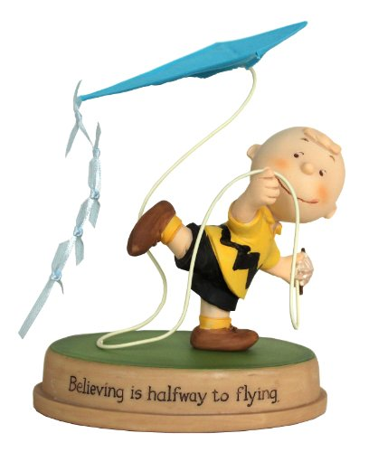 Peanuts Gallery Believing Is Halfway to Flying Charlie Brown Collectible Figurine
