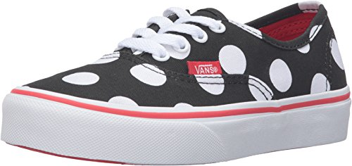 Vans Boy's Authentic - Polka Dot Black/Fiery Red 10.5 M ()