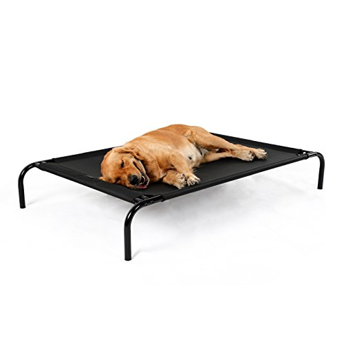 """Petsfit Elevated Pet/Large Dog Bed with Knitted Fabric for Pets Up to 150 Pounds 50"""" x 29.5"""" x 8.5"""" by Petsfit"""