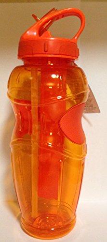Cool Gear Solstice EZ-Freeze Water Bottle - 32 Ounce, BPA-Free Tritan Plastic (Orange) by Cool Gear