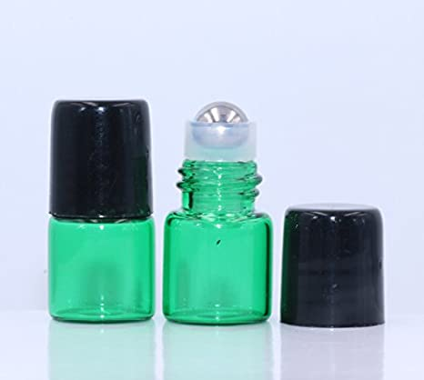 Amazon.com: Botellas de cristal verde Pinklife de 1 ml (1/4 ...