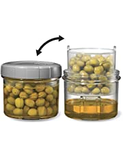 Starfrit 094497 Pickle Jar, 500 Ml Container with Strainer, Transparent