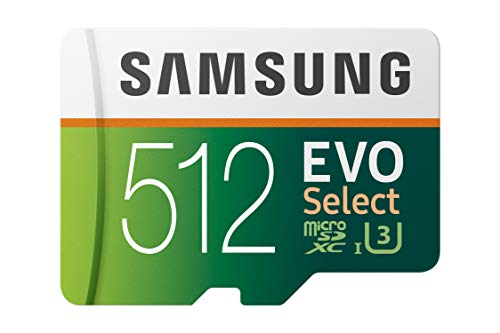 (Samsung 512GB 100MB/s (U3) MicroSDXC Evo Select Memory Card with Adapter (MB-ME512GA/AM))