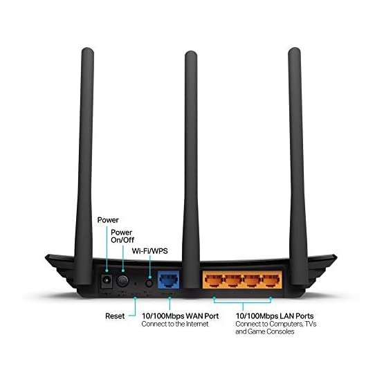 TP-Link N450 Wireless Wi-Fi Router, Up to 450Mbps, 3 External Antennas, IP QoS, WPS Button (TL-WR940N) 41yYVX24eIL. SS555