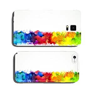 Bright watercolor stains. Rainbow blend. cell phone cover case Samsung S6