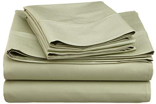 GoLinens 600 Thread-Count Wrinkle-Resistant Cotton-Blend Sheet Set Sage/Split ()