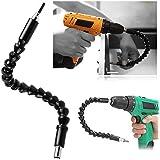 Winkelaufsatz für Akkuschrauber, Bohrmaschine und Schraubenzieher - Biegsame flexible Verlängerung als Winkelvorsatz Adapter