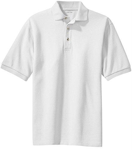 (Joe's USA(tm Mens Heavyweight Cotton Polo-White-L)
