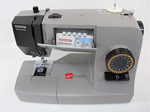 Toyota Power fabriq – Máquina de Coser (Brazo Libre 17 programas, para Extra Grueso Material, Incluye Soporte y Accesorios de Deslizamiento, Piel Costura Posible: Amazon.es: Hogar
