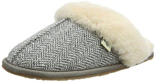 Pantofole Donna Lazy herringbone Dogz Gracie Grigio pqFgAE6wY