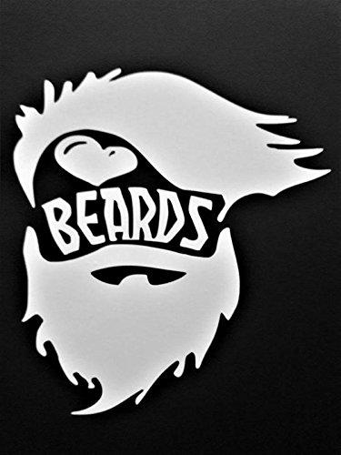 ★日本の職人技★ I Love Beards Beards Beard 5 Lifeビニールデカールsticker|white|carsトラックVans SUVノートパソコン壁art|5.5