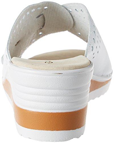 Blanc Piedical Donna Damart Bianco Femme Mules 01010 Sabot 1HY1xOFwq