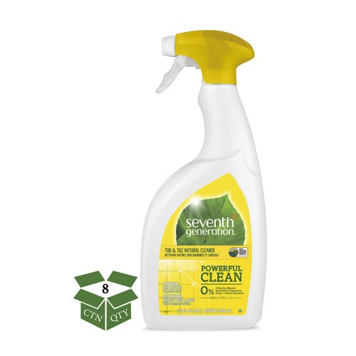Seventh Generation 44728CT Natural Tub & Tile Cleaner, Emerald Cypress & Fir, 32 oz Spray Bottle (Case of 8) by Seventh Generation