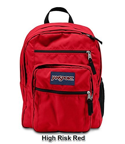 JanSport Big Student Solid Colors Backpack B1025: High Risk Red