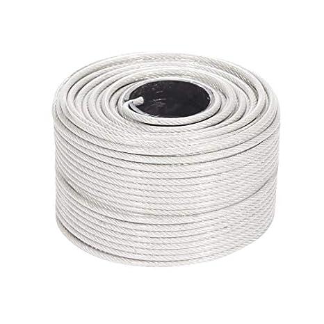 Amazon.com: Cuerda de alambre revestida de vinilo, cable de ...