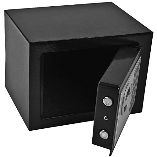GHP 8.9'' X 6.5'' X 6.5'' Black Solid Steel Digital Electronic Small Safe Box by Globe Warehouse (Image #4)
