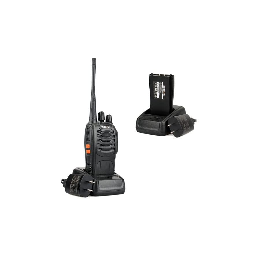 Retevis H 777 Two Way Radio UHF 2 Way Radios Signal Band 400 470MHz Rechargeable Walkie Talkies(6 Pack)