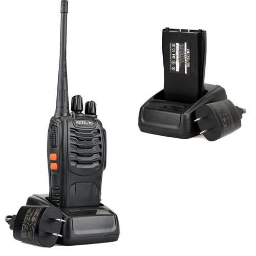 Retevis H 777 Two Way Radio Signal Band UHF 400 470MHz Rechargeable Walkie Talkies(6 Pack)