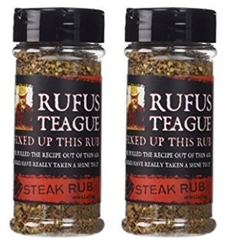 Rufus Teague - Steak Rub Seasoning, Gluten Free, No MSG 6.2 oz (Pack of 2) (Meat Steak)