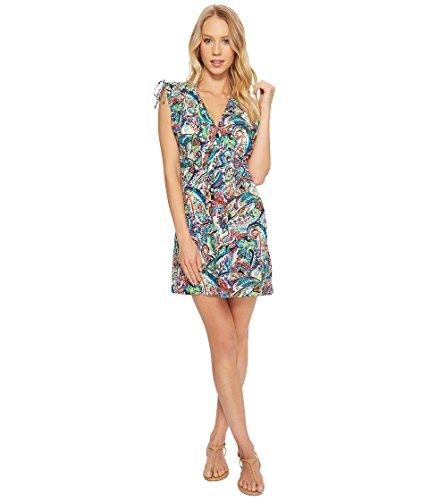 Lauren Ralph Lauren Women's Cabana Paisley Farrah Dress Cover-Up Multicolored Medium