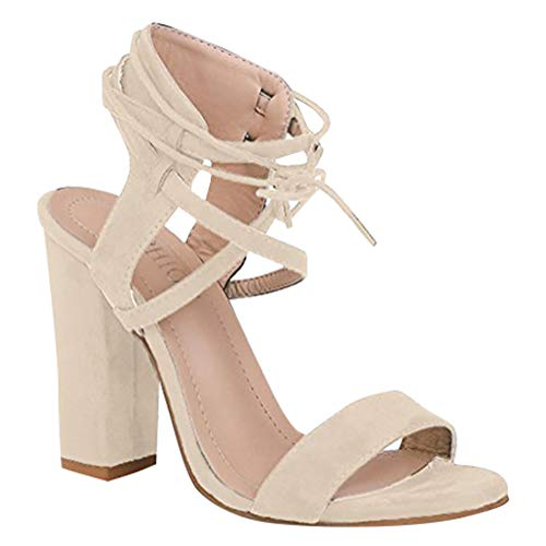 Partito Beach Toe Blocco Sandali Moda Shoes Sandals Minetom Beige Casuale A Scarpe Tacco Peep Eleganti Donna Estate qSP0FO