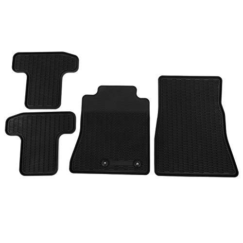 4 Stks/Set Zwart Rubberen Vloer Liners, Antislip Auto Vloermat Accessoire Past voor Mustang 2015-2020
