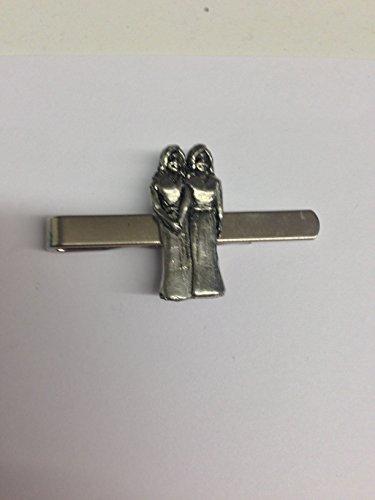 Gemini pp-ss07English Pewter emblème sur une pince à cravate (diapositive)