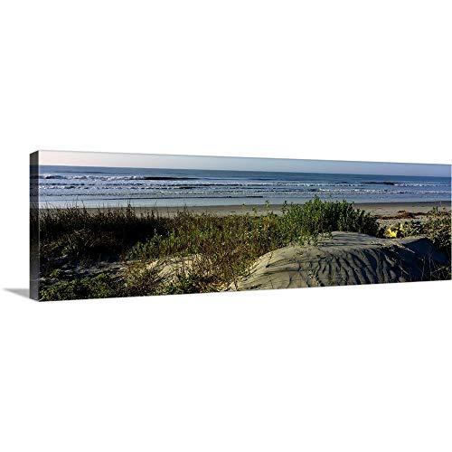 Premium Thick-Wrap Canvas Wall Art Print Entitled Panoramic View of a Beach, Kiawah Island Golf Resort, Kiawah Island, Charleston County, South Carolina 36