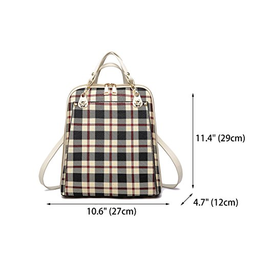 Mujer Shoppers PU Caqui hombro de mochila Bolsos y DEERWORD bolsos escolares Cuero Bolsas bandolera Bolsos de S60dwdq