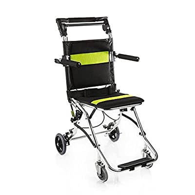 yuwell Portable Folding Travelling Wheelchair,Ultra LightWeight Transport Wheelchair for The Elderly and Children