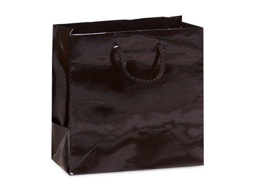 BLACK GLOSS Gift Bags JEWELMINI-PK 6-1/2x3-1/2x6-1/2'' 5 unit, 10 pack per unit. by Nas