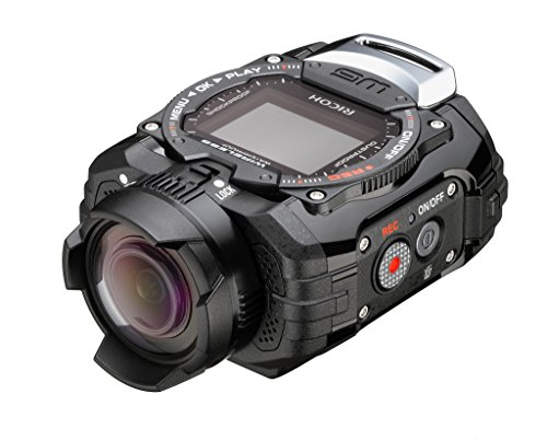 Ricoh WG-M1 Black Waterproof Action Video Camera with 1.5-Inch LCD (Black) (Underwater Pentax Camera)