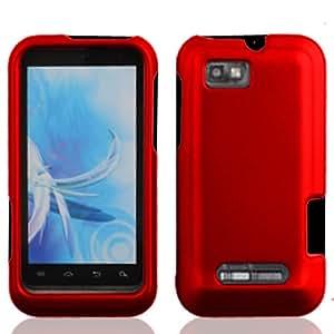 LF 3 in 1 Bundle - Hard Case Cover, Lf Stylus Pen & Lf Screen Wiper Bundle Accessory for (U.S. Cellular, Straight Talk) Motorola Defy XT XT556 (Red)