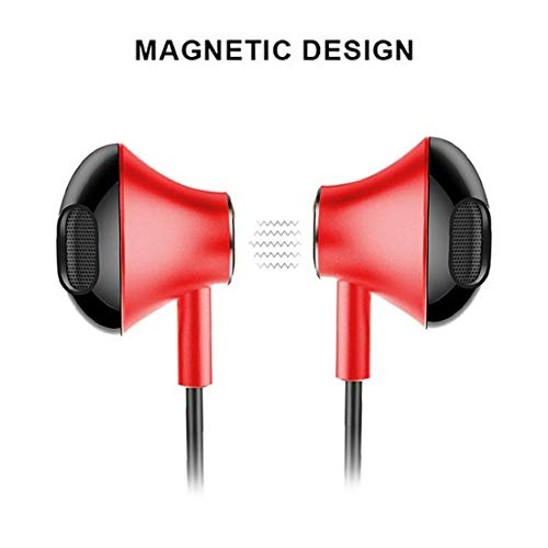 PTron-Intunes-Pro-Headphone-Magnetic-Earphone-Wireless-Bluetooth-Headset-with-Mic-for-All-Smartphones with mangentic field and best earphone with mic.