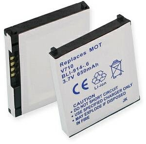 (Motorola V710 Cell Phone Battery (Li-Ion 3.7V 600mAh) - Replacement For Motorola V710 Cellphone Battery)