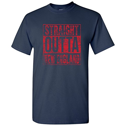 Straight Outta New England T Shirt - 2X-Large - Navy Cheers Boston T-shirt