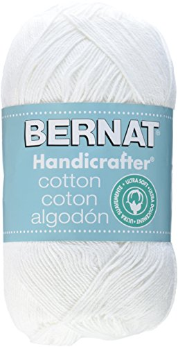 Bernat Handicrafter Cotton Yarn, Solid, 14 Ounce, White, Single Ball