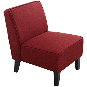 Amazon.com: Linon Coco Accent Chair, Red: Kitchen & Dining
