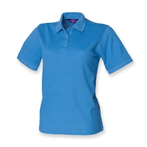 Henbury Frauen 65/35 polo Mid Blau S