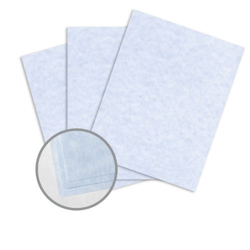 Astroparche Blue Paper - 8 1/2 x 11 in 60 lb Text Vellum 30% Recycled 500 per Ream by Wausau Paper Astroparche