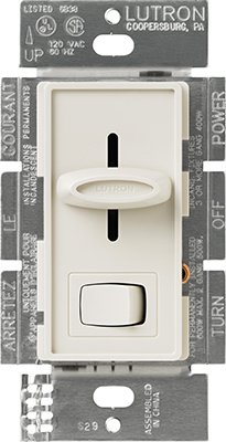 Skylark Preset Slide Dimmer Single Pole Indoor On/Off Light Almond Ul, Csa Clamshell ()