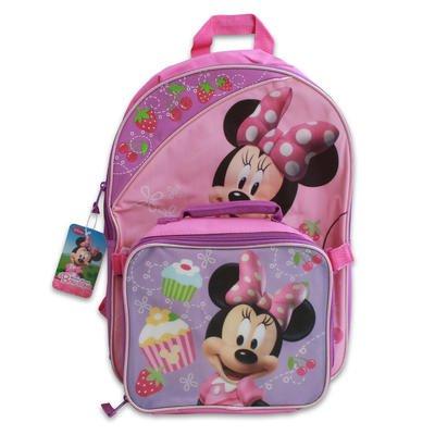 [해외]16 Minnie Mouse Backpack Wlunch Bag / 16 Minnie Mouse Backpack Wlunch Bag
