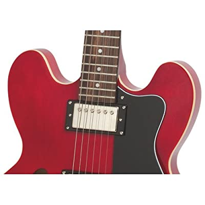 Epiphone DOT ES Style Semi-Hollowbody Electric Guitar, Cherry Red by Epiphone