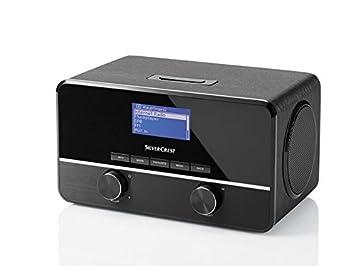 Silvercrest estéreo-radio por internet, negro