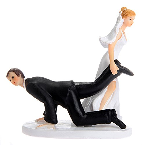 (Riverbyland Bride Drag Groom Figurine Wedding Cake Topper)