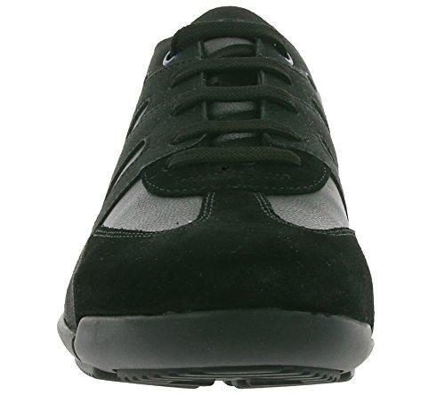 GEOX U Edgware B Véritable Sneaker en Cuir Pour Hommes Noir U743BA 022BC C9999
